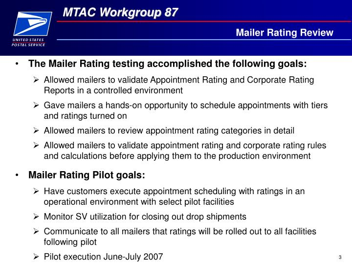 Mailer rating review