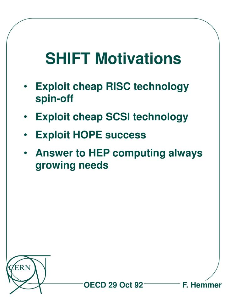 Shift motivations