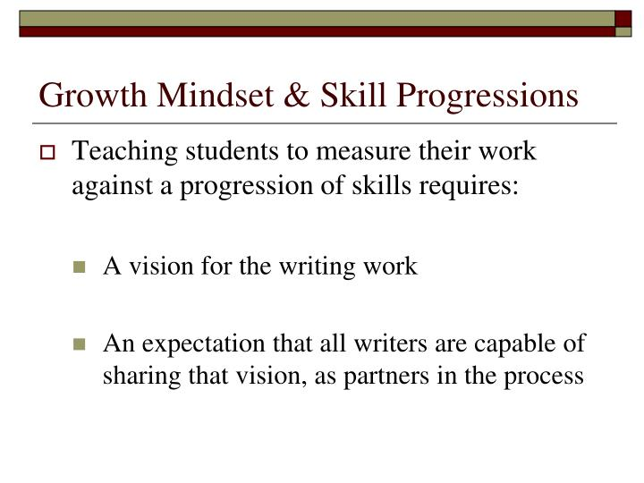 Growth Mindset & Skill Progressions