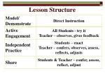lesson structure