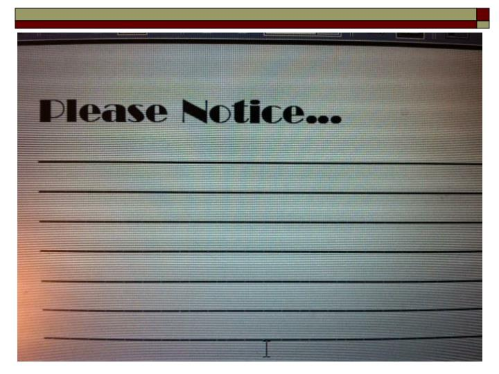 "Megan's ""Please Notice"" Card"