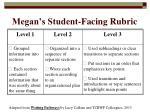 megan s student facing rubric