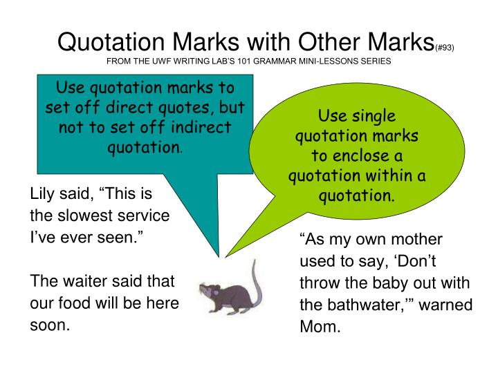 Quotation marks quotes