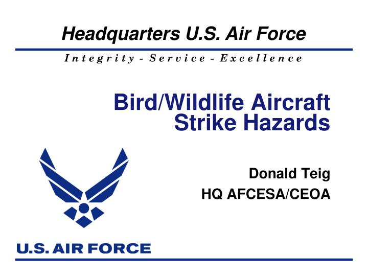 Bird wildlife aircraft strike hazards