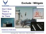 exclude mitigate5