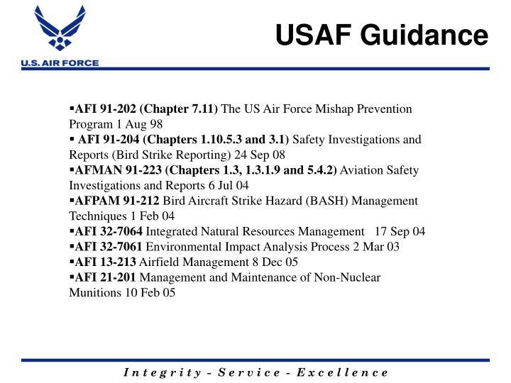 USAF Guidance