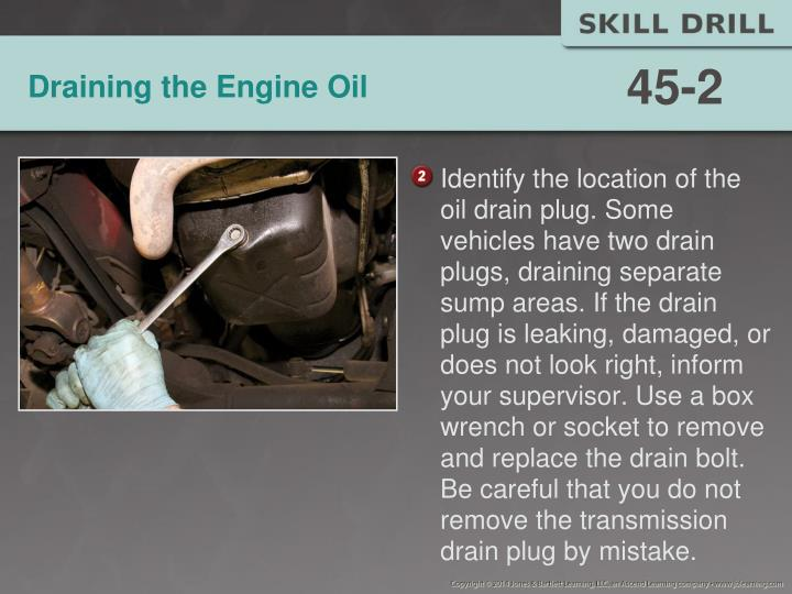Draining the Engine Oil