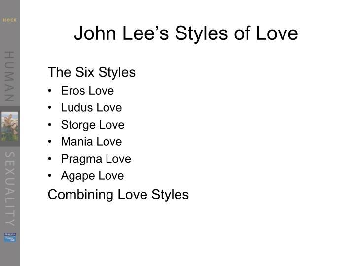 John Lee's Styles of Love