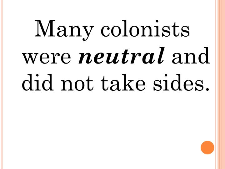 Many colonists were