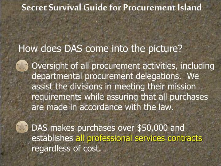 Secret Survival Guide for Procurement Island