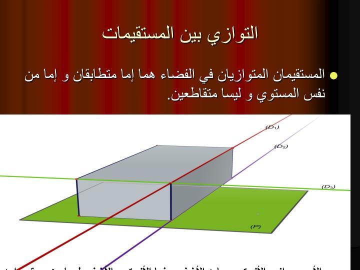 التوازي بين المستقيمات