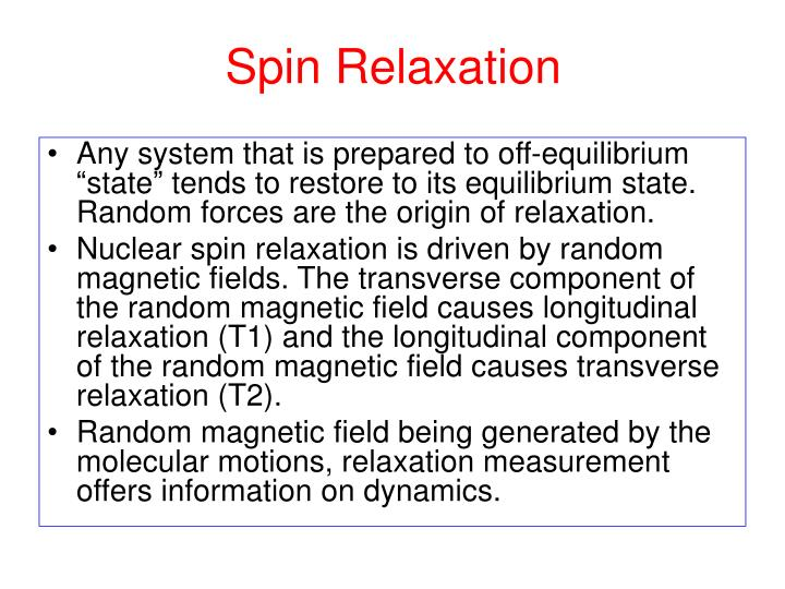 Spin Relaxation