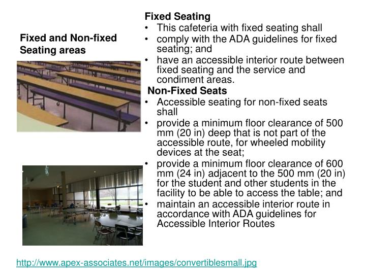 Fixed and Non-fixed Seating areas