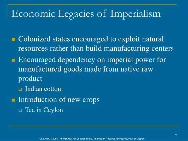 Economic Legacies of Imperialism
