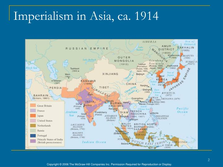 Imperialism in asia ca 1914