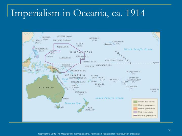 Imperialism in Oceania, ca. 1914