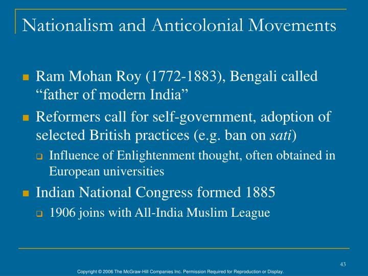 Nationalism and Anticolonial Movements