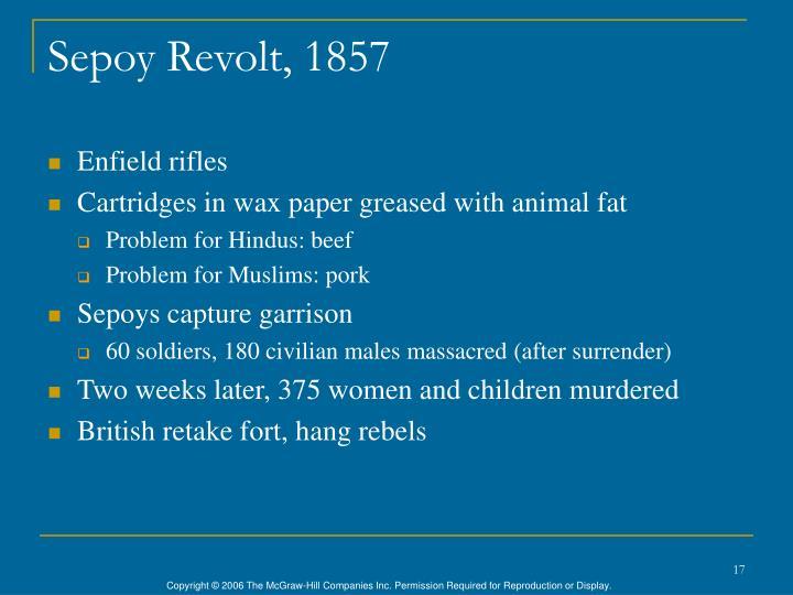 Sepoy Revolt, 1857