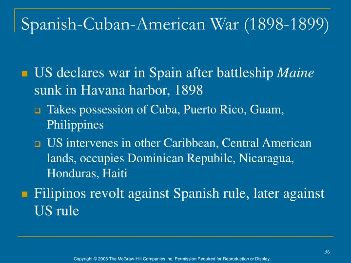 Spanish-Cuban-American War (1898-1899)