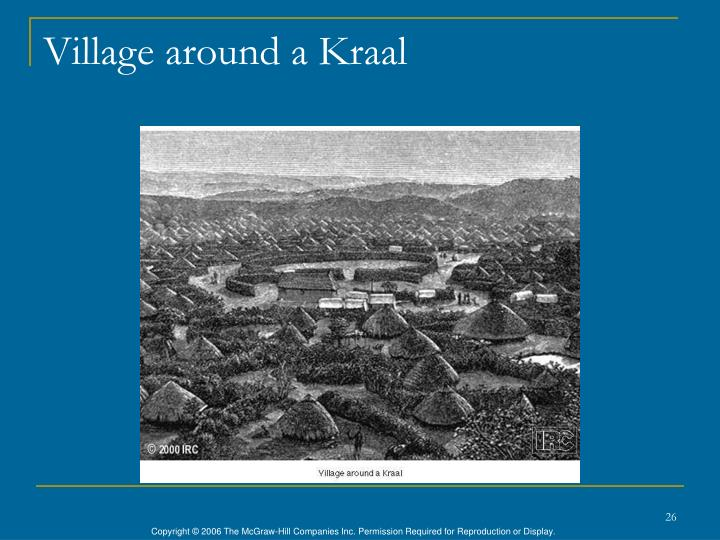 Village around a Kraal
