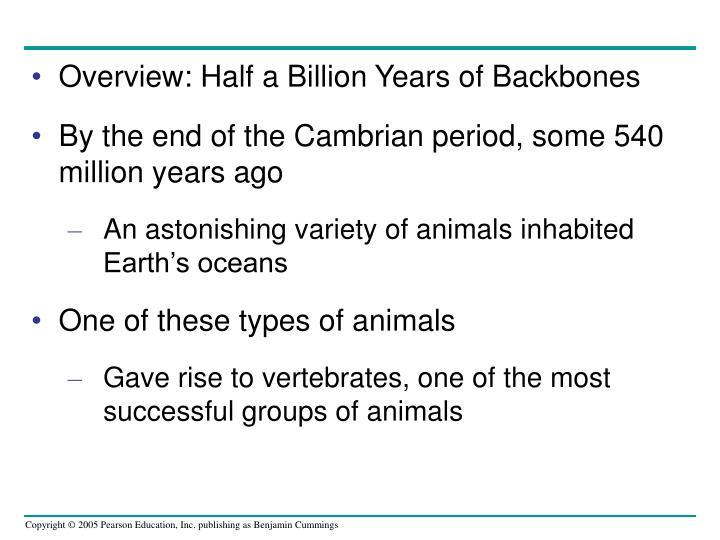 Overview: Half a Billion Years of Backbones