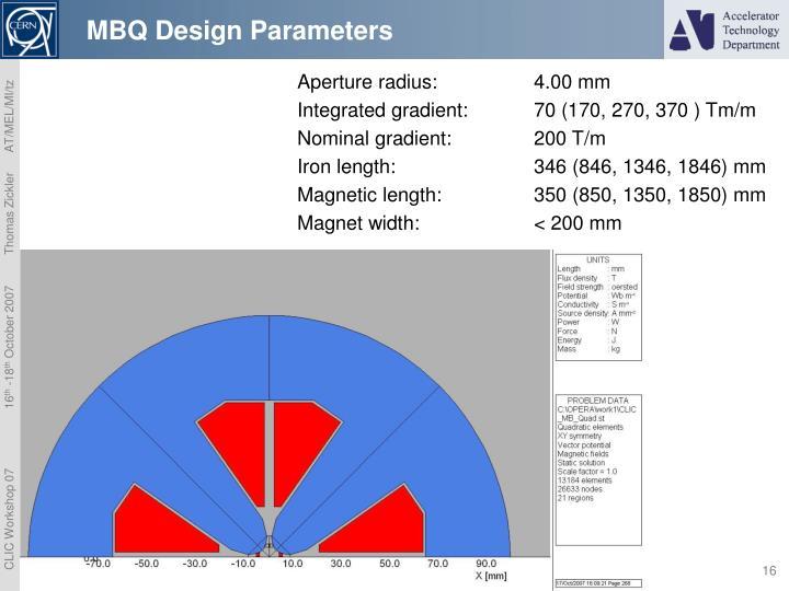 MBQ Design Parameters