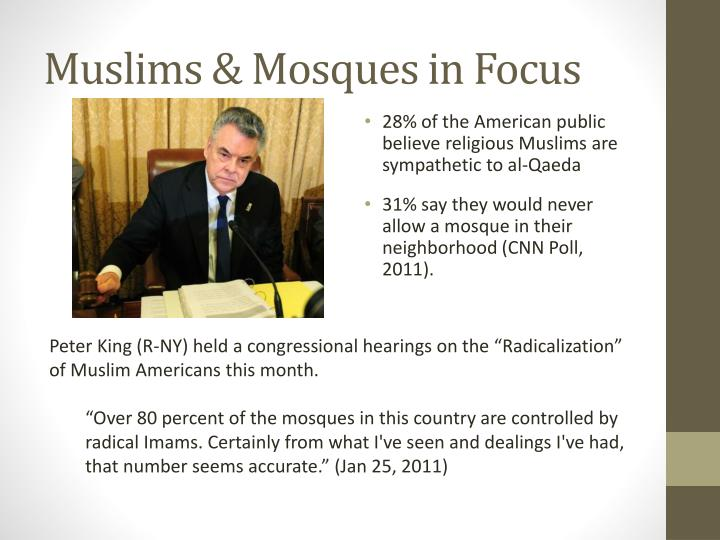 Muslims mosques in focus