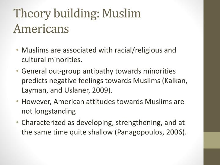 Theory building: Muslim Americans