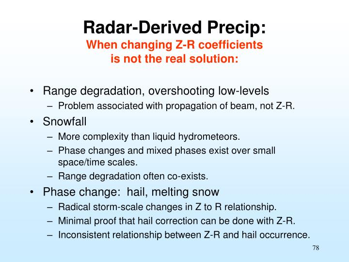 Radar-Derived Precip: