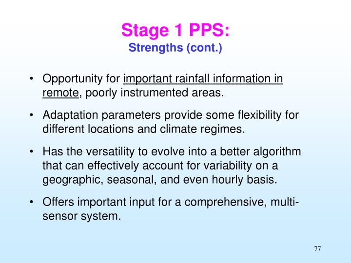 Stage 1 PPS:
