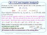 b v 1 v 2 and angular analysis