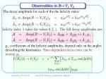 observables in b v 1 v 2