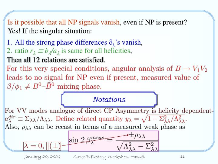Is it possible that all NP signals vanish
