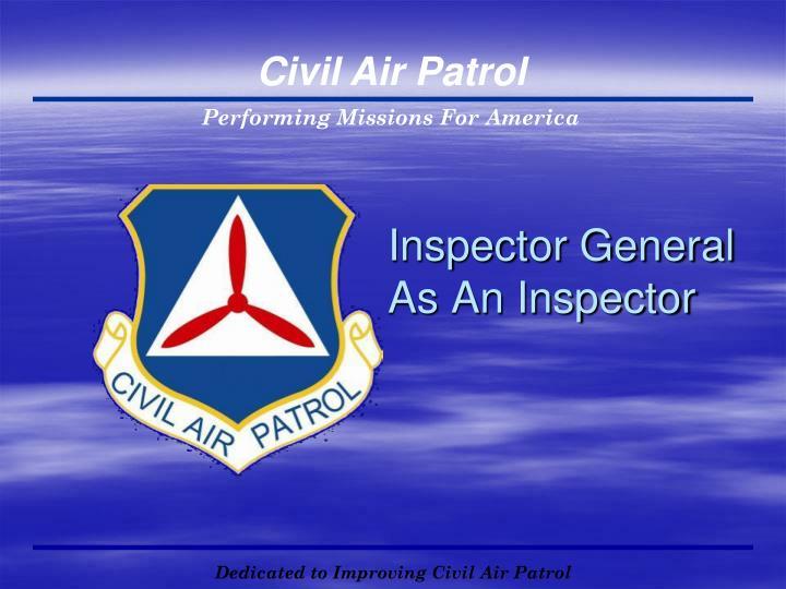 Inspector General As An Inspector