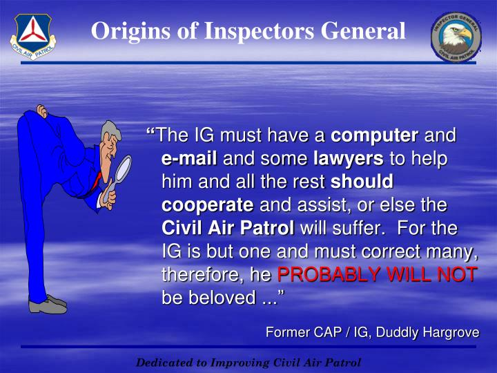 Origins of Inspectors General