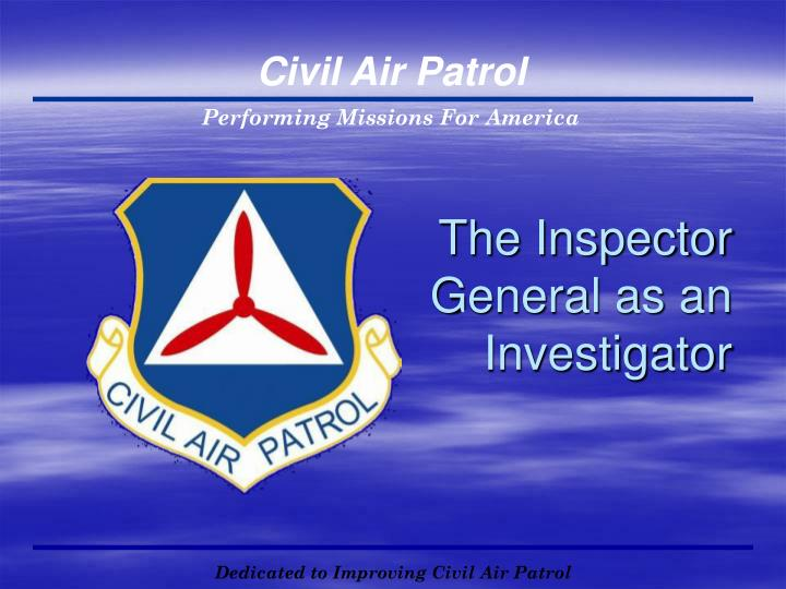 The Inspector General as an