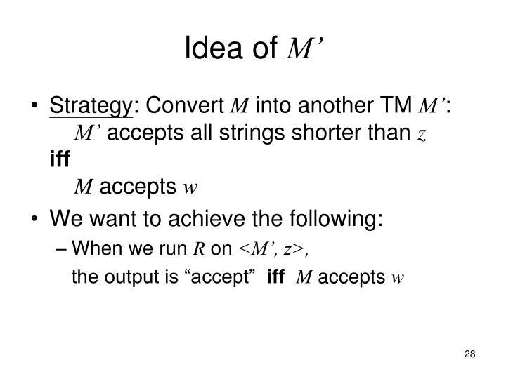 Idea of