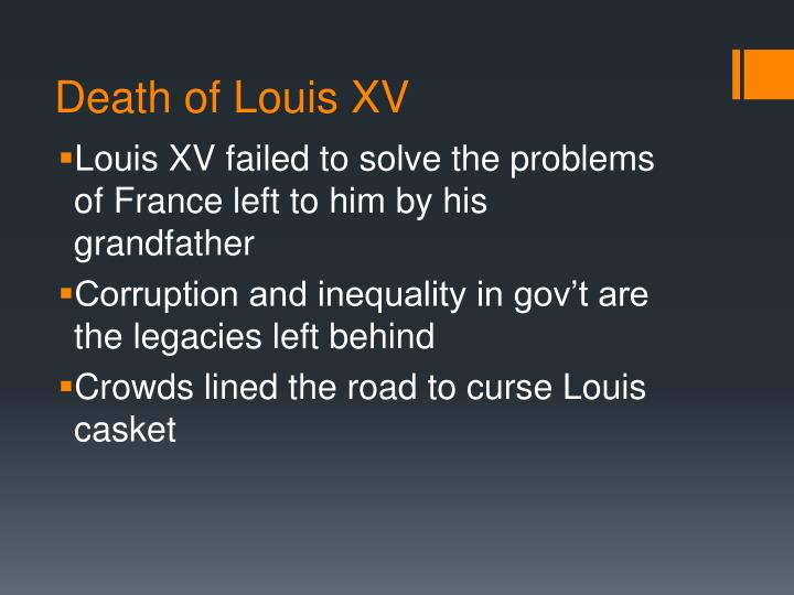 Death of Louis XV