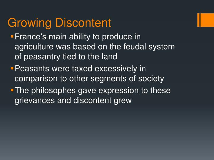 Growing Discontent
