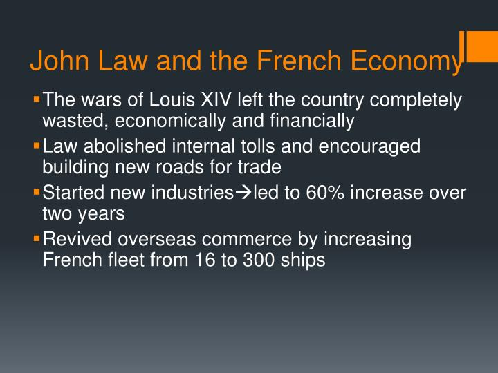 John law and the french economy