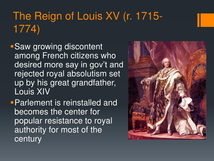 The Reign of Louis XV (r. 1715-1774)