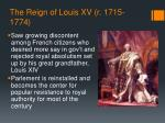 the reign of louis xv r 1715 1774
