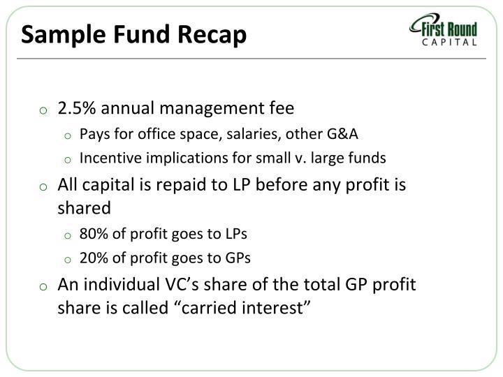 Sample Fund Recap