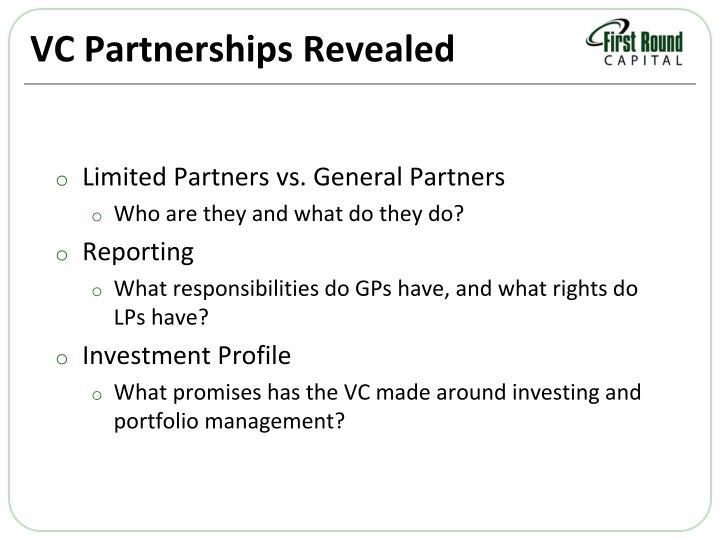 VC Partnerships Revealed
