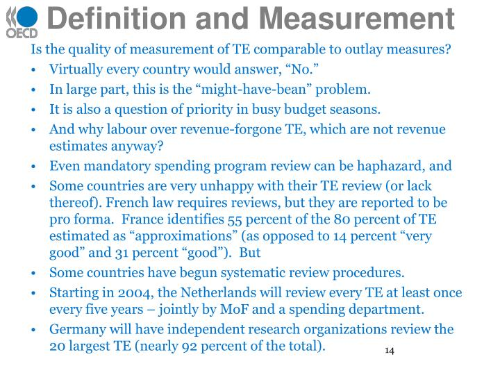 Definition and Measurement