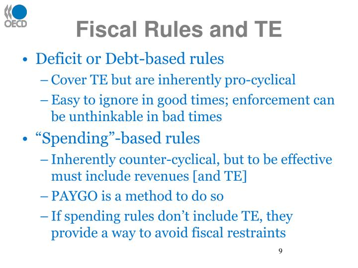 Fiscal Rules and TE
