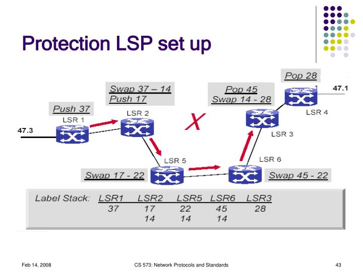 Protection LSP set up
