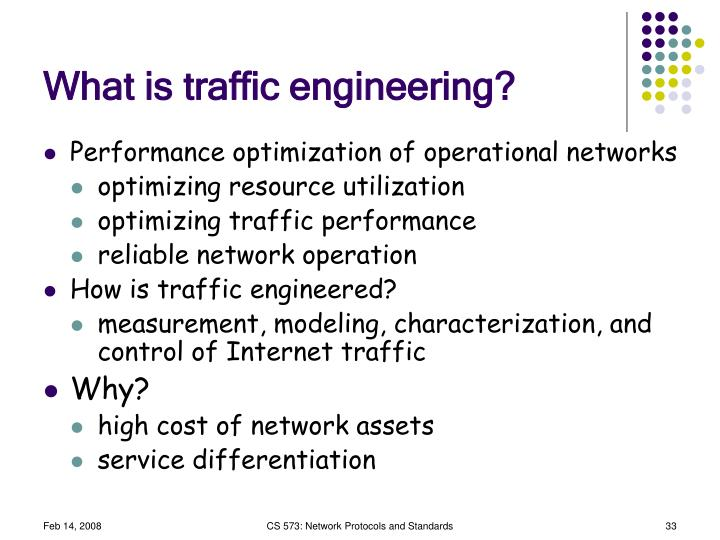 What is traffic engineering?
