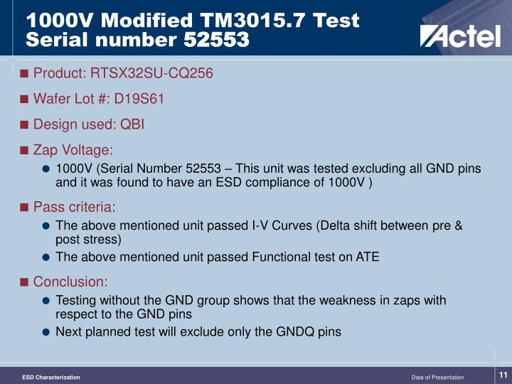 1000V Modified TM3015.7 Test