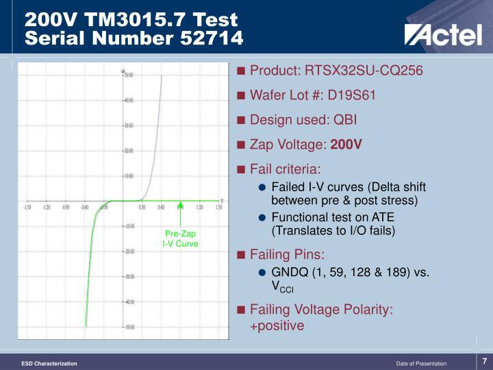 200V TM3015.7 Test